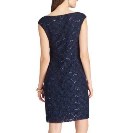 Women's Chaps Lace Sequin Sheath Dress