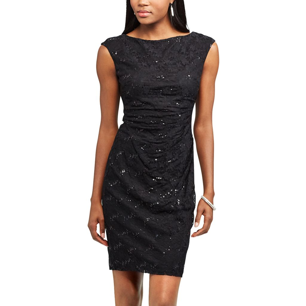 Women's Chaps Lace Sequin Sheath Dress