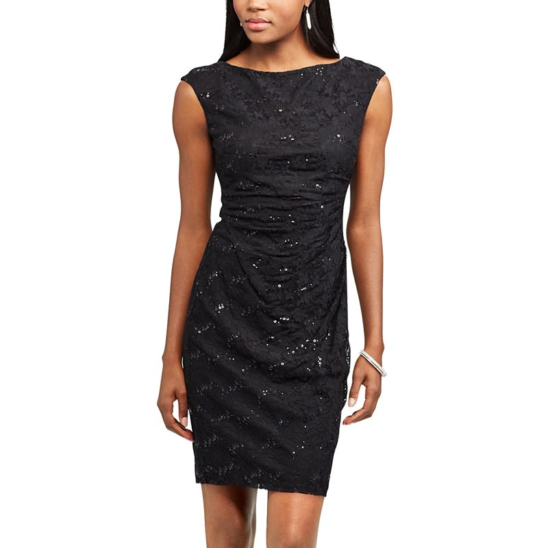 f1a2e50ec0f Women s Chaps Lace Sequin Sheath Evening Dress (You re sure to love ...