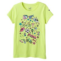 Girls 7-16 PUMA Logo Sleeve Graphic Tee