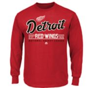 Boys 8-20 Majestic Detroit Red Wings Long-Sleeve Tee