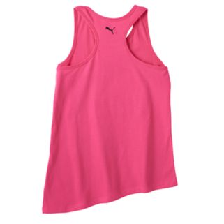 Girls 7-16 PUMA Asymmetrical Hem Glitter Graphic Tank Top