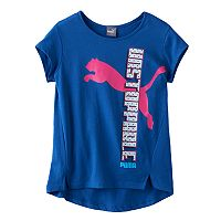 Girls 7-16 PUMA High-Low Hem Side Graphic Tee