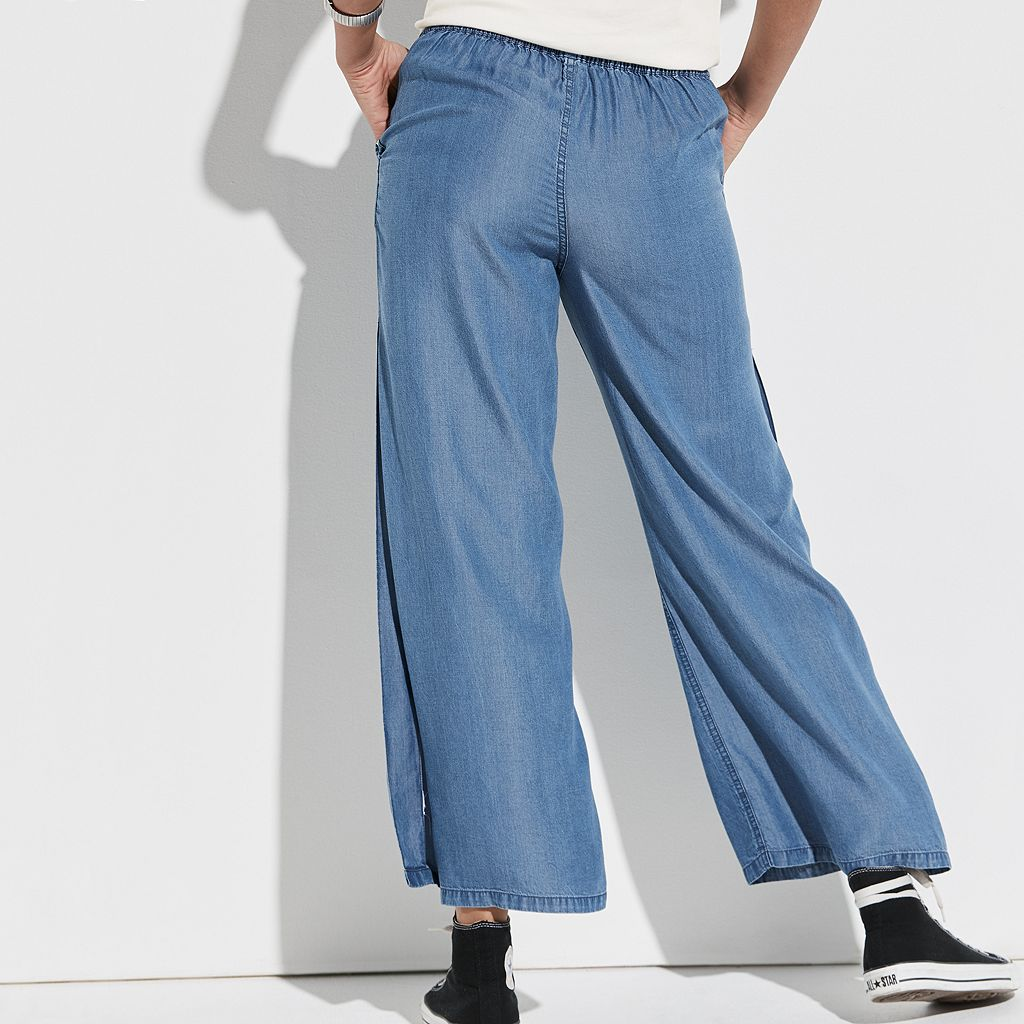k/lab Slit Wide Leg Jeans