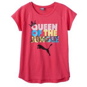 "Girls 7-16 PUMA ""Queen of the Jungle"" Graphic Tee"
