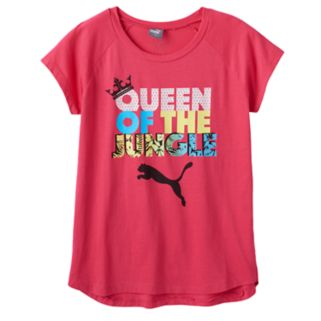 """Girls 7-16 PUMA """"Queen of the Jungle"""" Graphic Tee"""
