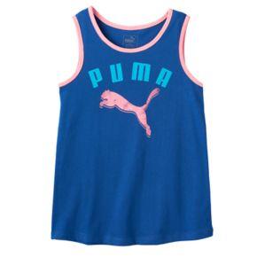 Girls 7-16 PUMA Contrast Trim Sugar Glitter Graphic Tank Top