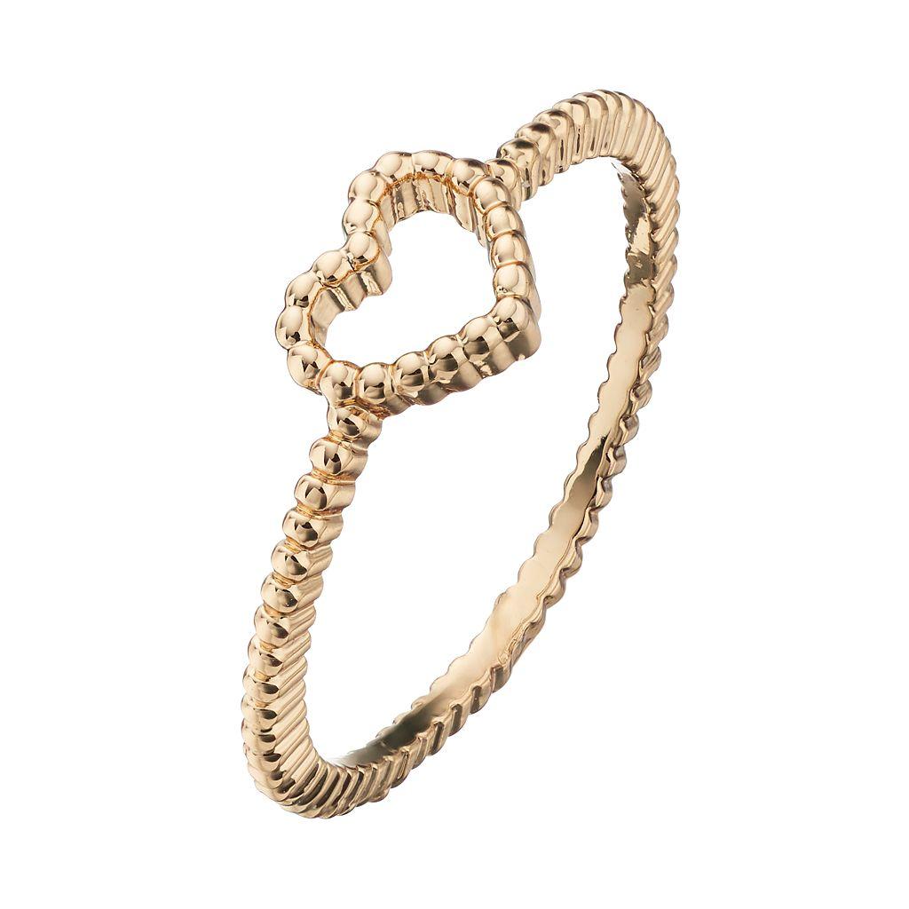 LC Lauren Conrad Open Heart Toe Ring
