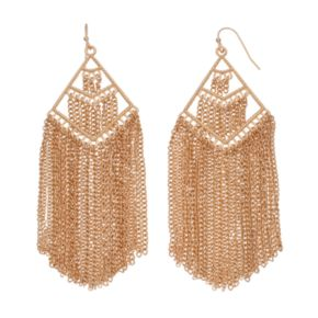 Chain Fringe Chandelier Earrings