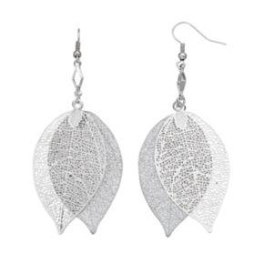 Filigree Leaf Double Drop Earrings