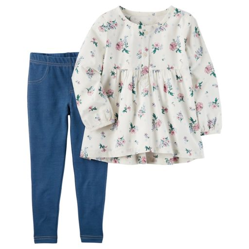 Baby Girl Carter's Floral Long-Sleeved Tunic & Jeggings Set