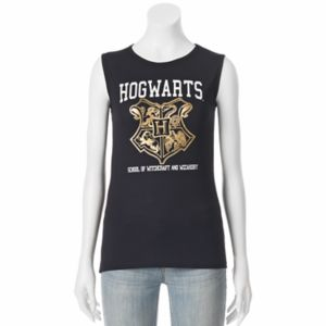 Juniors' Harry Potter Hogwarts Crest Muscle Graphic Tank!