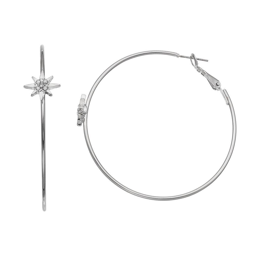Starburst Hoop Earrings