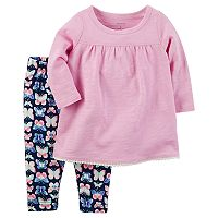 Baby Girl Carter's Long-Sleeved Tee & Butterfly Legging Set