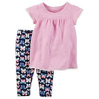 Baby Girl Carter's Flutter-Sleeved Tee & Butterfly Legging Set