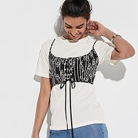 k/lab Lace-Up Front Tee
