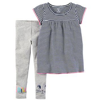Baby Girl Carter's Striped Top & Leggings