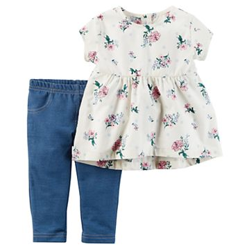 Baby Girl Carter's Floral Tunic & Jeggings Set