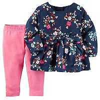 Baby Girl Carter's Floral Bow Top & Leggings Set