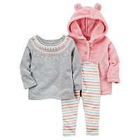 Baby Girl Carter's 3-pc. Hoodie & Leggings Set