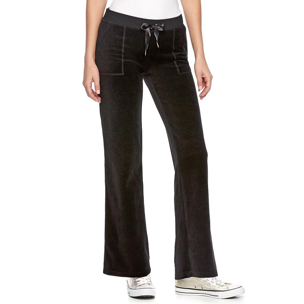 Women's Juicy Couture Bootcut Velour Pants