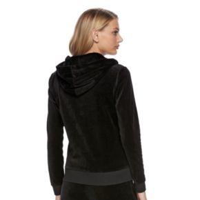 Women's Juicy Couture Solid Velour Hoodie Jacket