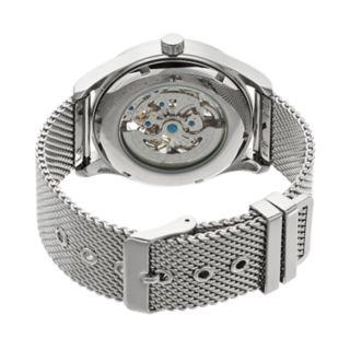 Armitron Men?s Stainless Steel Mesh Automatic Skeleton Watch - 20/5237BKSV