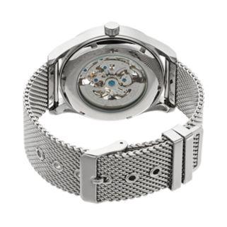 Armitron Men's Stainless Steel Mesh Automatic Skeleton Watch - 20/5237BKSV