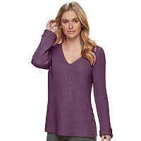 Women's SONOMA Goods for Life™ Button Accent V-Neck Sweater