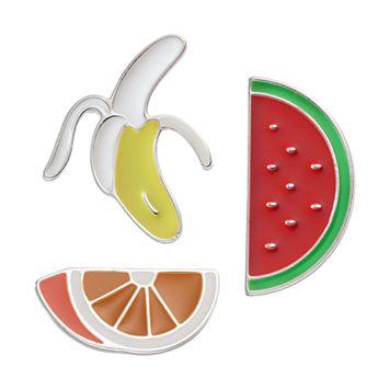 LC Lauren Conrad Banana & Melon Pin Set