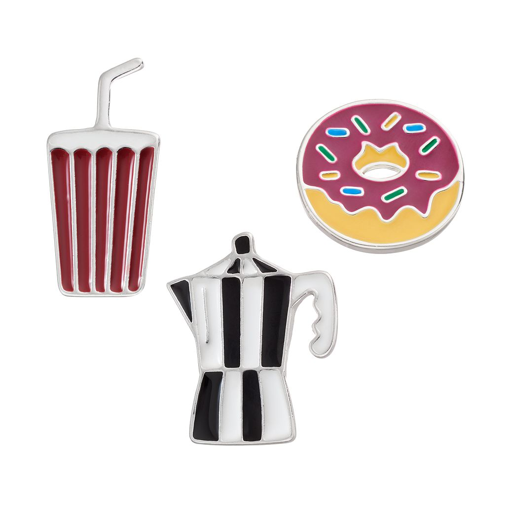 LC Lauren Conrad Donut, Moka Pot & Soft Drink Pin Set