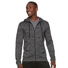 Men's Tek Gear® Brushed Space-Dyed Full-Zip Hoodie