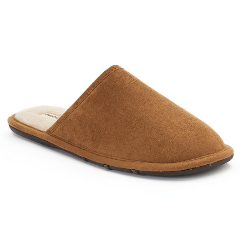 Hideaways by L.B. Evans Pacey Men's Suede Scuff Slippers