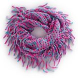 Girls 4-16 Open Knit Metallic Space-Dyed Infinity Scarf