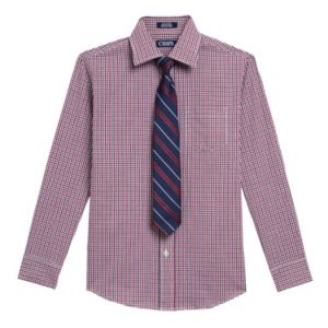 Boys 4-20 Chaps Plaid Shirt & Tie Set!