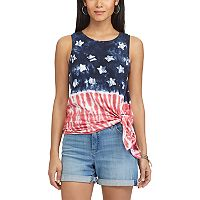 Women's Chaps Tie-Dye Flag Graphic Tank