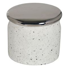 Scribble Spatterware Small Covered Jar