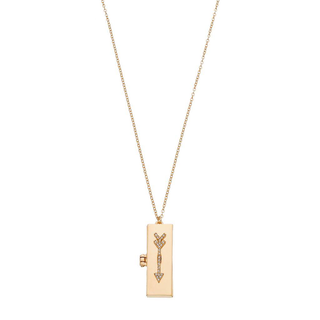 Arrow Locket Necklace