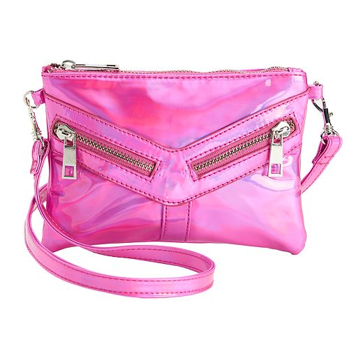 Girls Fuchsia Hologram Crossbody Purse