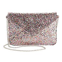 Girls Glitter Envelope Crossbody Purse