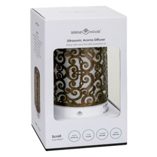 Serene House Scroll Ultrasonic Aromatherapy Diffuser