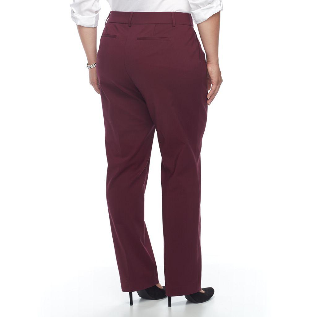 Plus Size Apt. 9® Straight-Leg Pants