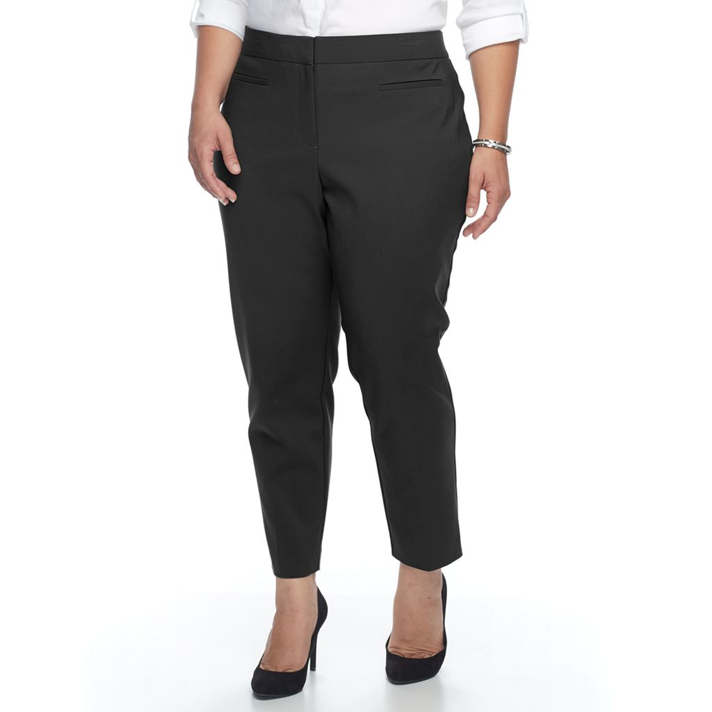 Plus Size Apt. 9® Slim Ankle Pants