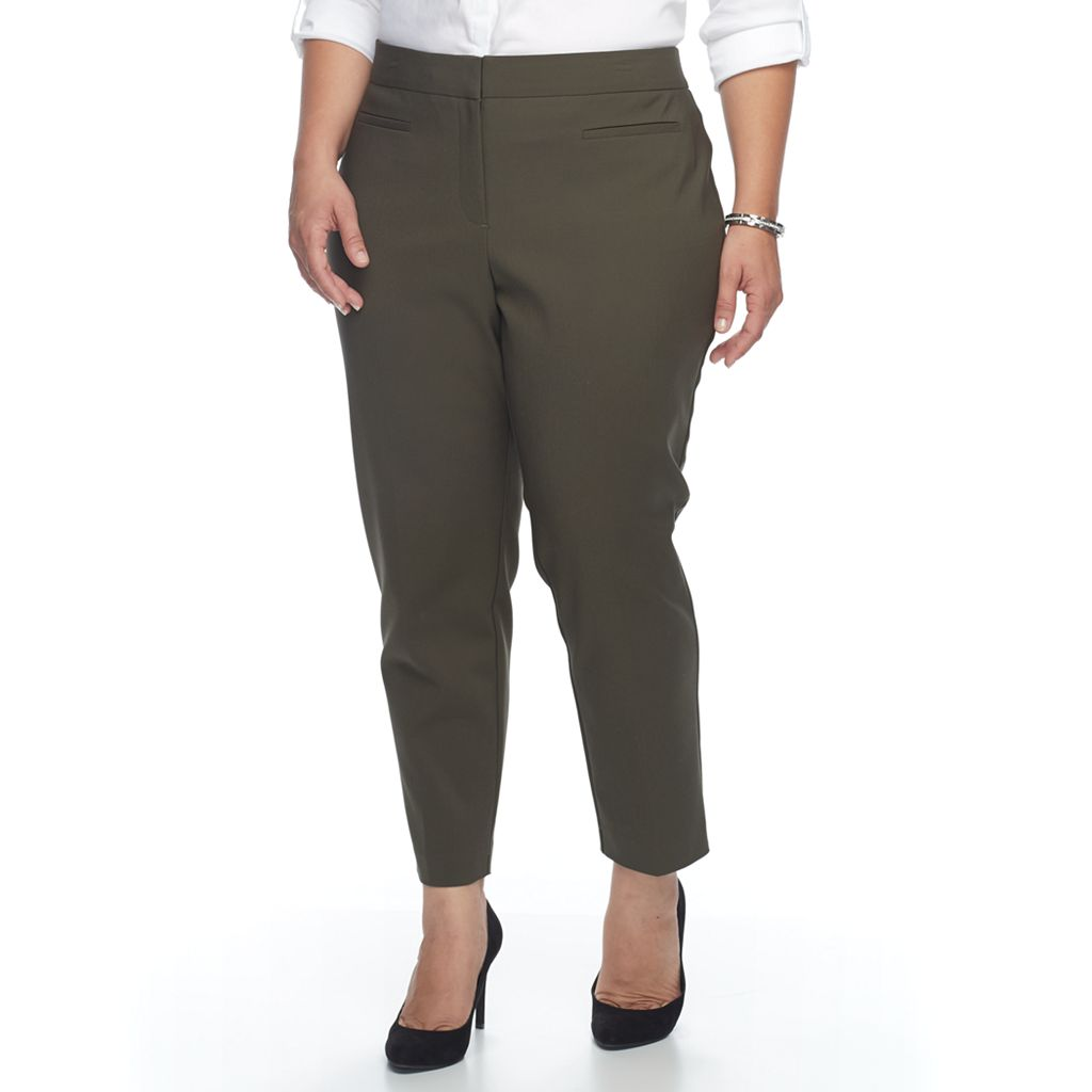 Plus Size Apt. 9® Slim Ankle Pants