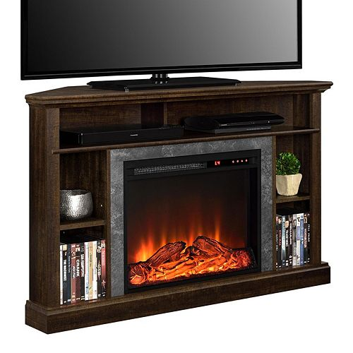 altra overland electric fireplace corner tv stand - Corner Tv Stands With Fireplace