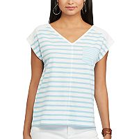 Women's Chaps Striped Pocket Tee