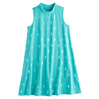 Girls 7-16 & Plus Size Mudd® Patterned Mockneck Dress