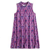 Girls 7-16 & Plus Size Mudd® Patterned Mockneck Dress