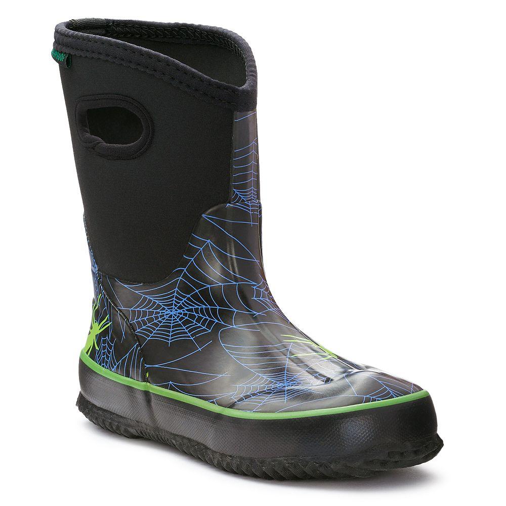 Itasca Bayou Spider Boys' Waterproof Rain Boots