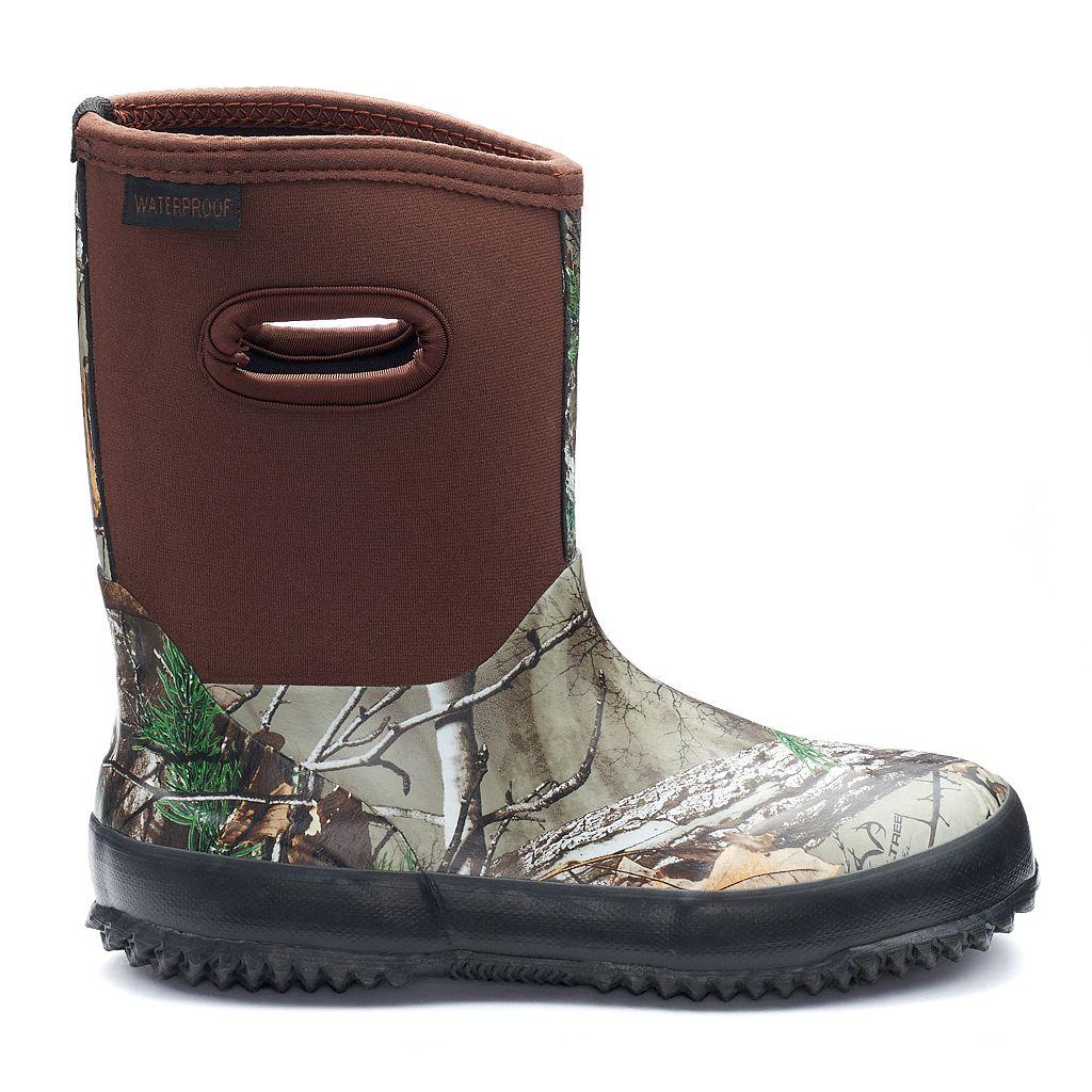Itasca Bayou Realtree Boys' Waterproof Rain Boots